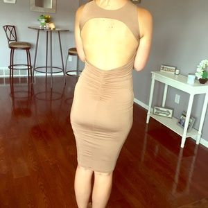 Backless Ruched Dress 💛💛💛 NWOT